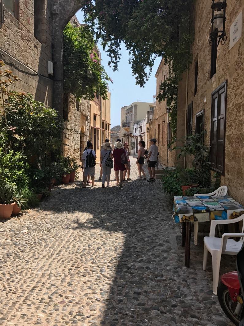 Une rue du quartier juif de Rhodes